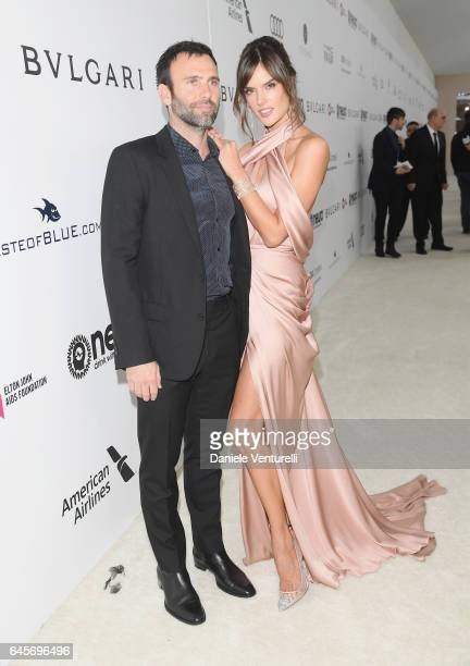 Model Alessandra Ambrosio and Jamie Mazur attends Bulgari at the 25th Annual Elton John AIDS Foundation's Academy Awards Viewing Party at on February...