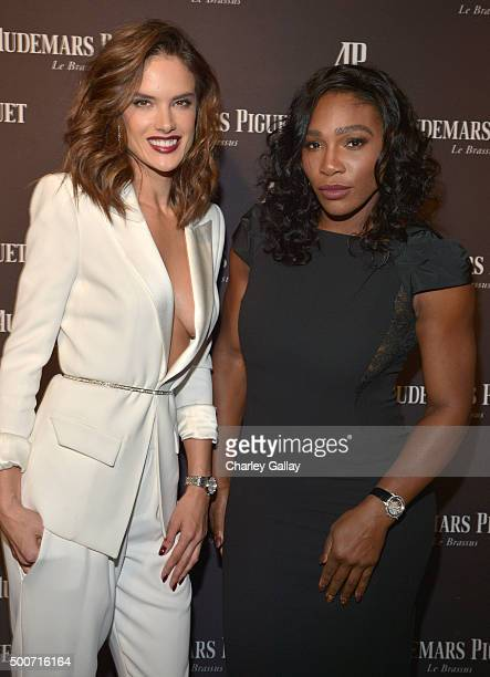 Model Alessandra Ambrosio and professional tennis player Serena Williams attend the Opening of Audemars Piguet Rodeo Drive at Audemars Piguet on...