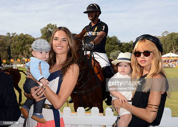 Model Alessandra Ambrosio and stylist Rachel Zoe with children attend the Third Annual Veuve Clicquot Polo Classic at Will Rogers State Historic Park...