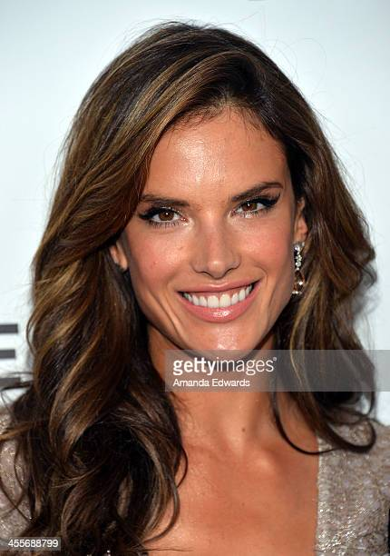 Model Alessandra Ambrosio arrives at amfAR The Foundation for AIDS 4th Annual Inspiration Gala at Milk Studios on December 12 2013 in Hollywood...