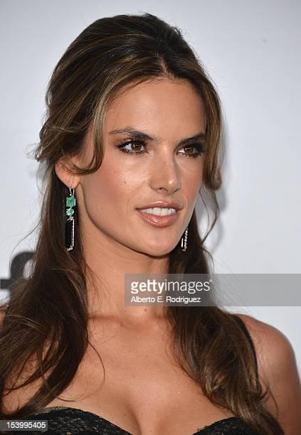 Model Alessandra Ambrosio arrives at amfAR's Inspiration Gala at Milk Studios on October 11 2012 in Hollywood California