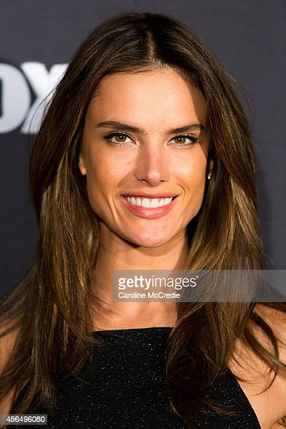 Model Alessandra Ambrosio arrives at Australia's Next Top Model Elimination Set in Surry Hills on October 2 2014 in Sydney Australia