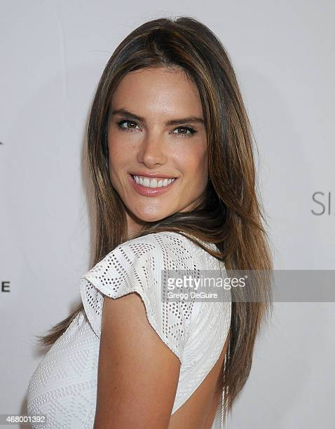 Model Alessandra Ambrosio arrives at Simply Stylist LA at The Grove on March 28 2015 in Los Angeles California