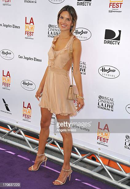 Model Alessandra Ambrosio arrives at the 2013 Los Angeles Film Festival Premiere of Hasbro Studios' 'My Little Pony Equestria Girls' at Regal Cinemas...
