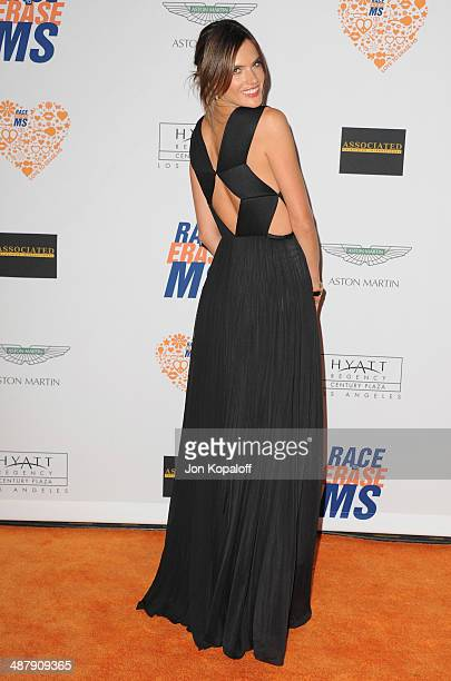 Model Alessandra Ambrosio arrives at the 21st Annual Race To Erase MS Gala at the Hyatt Regency Century Plaza on May 2, 2014 in Century City,...