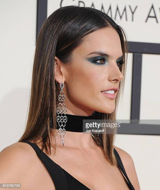 Model Alessandra Ambrosio arrives at The 58th GRAMMY Awards at Staples Center on February 15 2016 in Los Angeles California