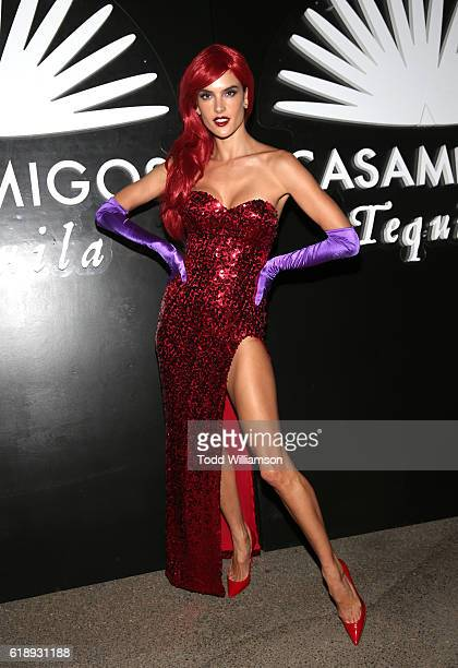 Model Alessandra Ambrosio arrives to the Casamigos Halloween Party at a private residence on October 28, 2016 in Beverly Hills, California.