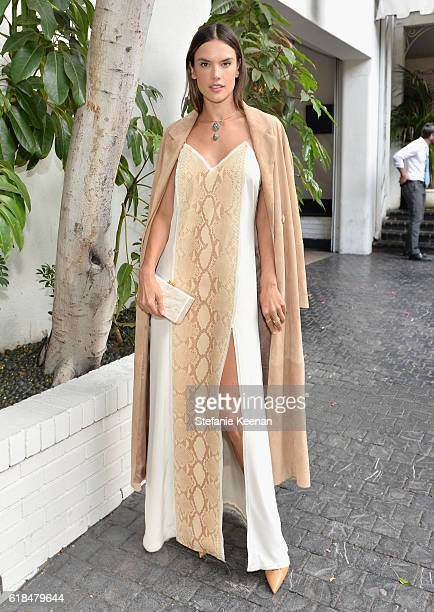 Model Alessandra Ambrosio at the CFDA/Vogue Fashion Fund Show and Tea presented by kate spade new york at Chateau Marmont on October 26 2016 in Los...