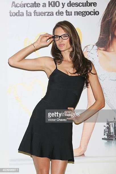 Model Alessandra Ambrosio attends a photocall and press conference to promote KIO Networks campaing at the Four Seasons Hotel on December 6 2013 in...