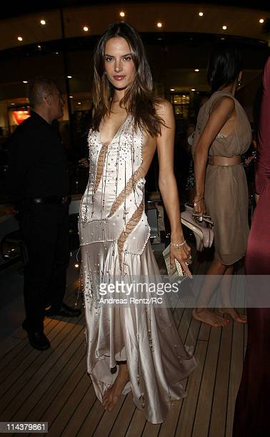 Model Alessandra Ambrosio attends a private dinner on the Cavalli yacht during the 64th Annual Cannes Film Festival on May 18 2011 in Cannes France