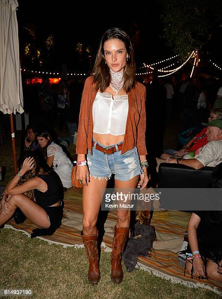 Model Alessandra Ambrosio attends Desert Trip at The Empire Polo Club on October 15 2016 in Indio California