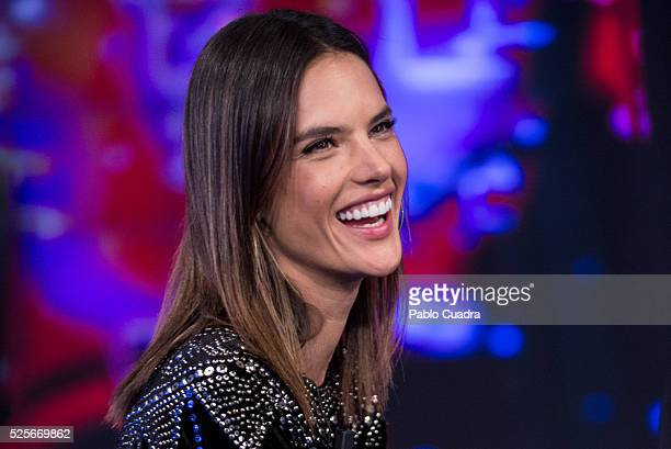 Model Alessandra Ambrosio attends 'El Hormiguero' TV Show at Vertice Studio on April 28, 2016 in Madrid.