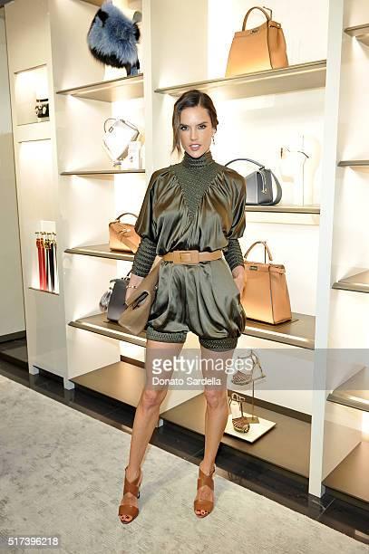 Model Alessandra Ambrosio attends Fendi and Vogue Celebrate Fendi Beverly Hills at Fendi on March 24 2016 in Beverly Hills California