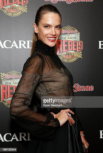 Model Alessandra Ambrosio attends Inaugural Bacardi Rebels event hosted by Rolling Stone at Roseland Ballroom on May 20 2013 in New York City