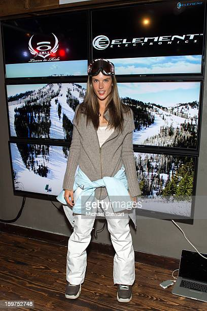 Model Alessandra Ambrosio attends Oakley Learn To Ride In Collaboration With New Era on January 19 2013 in Park City Utah
