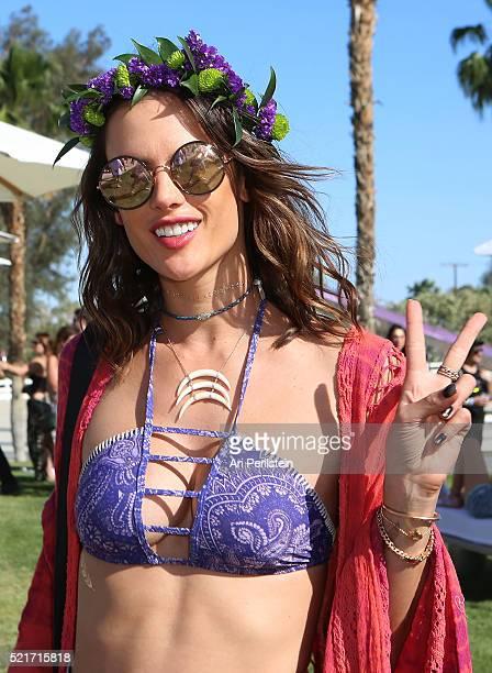 Model Alessandra Ambrosio attends REVOLVE Desert House on April 16 2016 in Thermal California