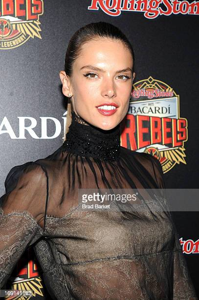 Model Alessandra Ambrosio attends Rolling Stone hosts Bacardi Rebels at Roseland Ballroom on May 20 2013 in New York City