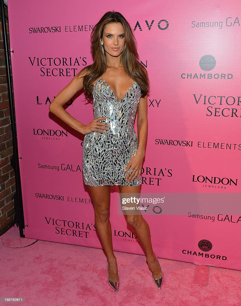 Model Alessandra Ambrosio attends Samsung Galaxy features arrivals at the official Victoria's Secret fashion show after party on November 7, 2012 in New York City.