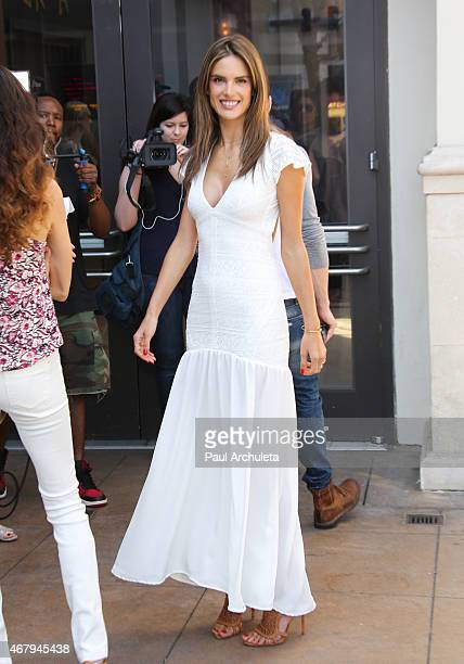Model Alessandra Ambrosio attends 'Simply Stylist LA' at The Grove on March 28 2015 in Los Angeles California