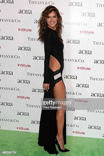 Model Alessandra Ambrosio attends the 19th Annual ACRIA Holiday Dinner at Skylight Modern on December 10 2014 in New York City