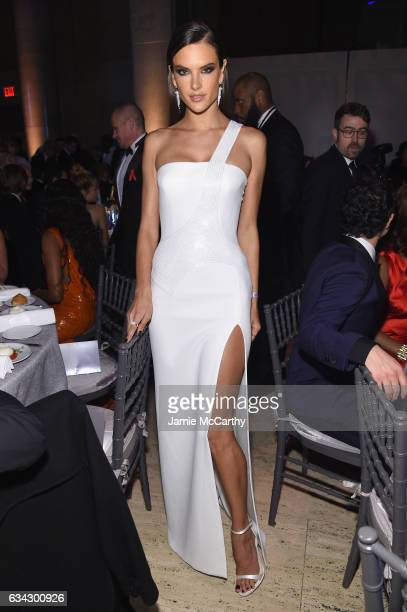 Model Alessandra Ambrosio attends the 19th Annual amfAR New York Gala at Cipriani Wall Street on February 8 2017 in New York City