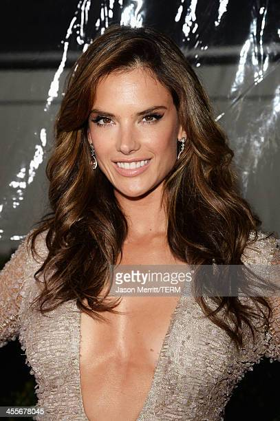 Model Alessandra Ambrosio attends the 2013 amfAR Inspiration Gala Los Angeles at Milk Studios on December 12 2013 in Los Angeles California