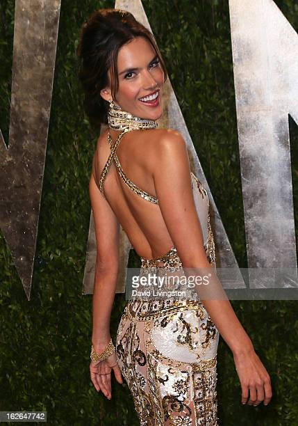 Model Alessandra Ambrosio attends the 2013 Vanity Fair Oscar Party at the Sunset Tower Hotel on February 24 2013 in West Hollywood California