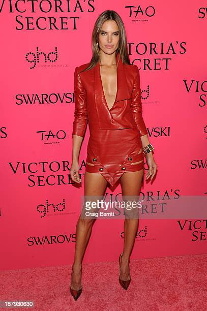 Model Alessandra Ambrosio attends the 2013 Victoria's Secret Fashion after party at TAO Downtown on November 13 2013 in New York City