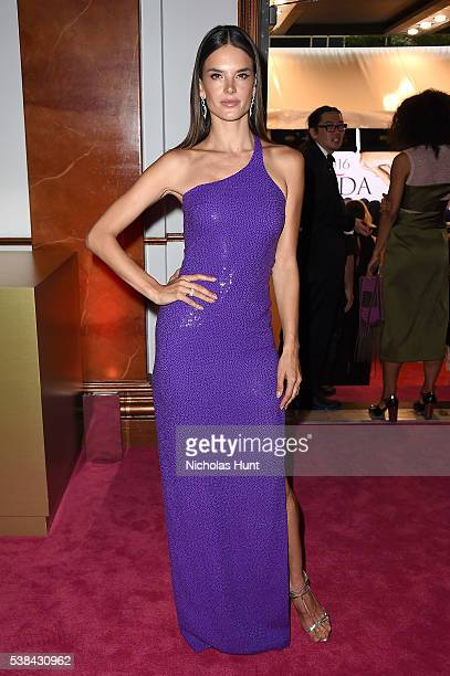 Model Alessandra Ambrosio attends the 2016 CFDA Fashion Awards at the Hammerstein Ballroom on June 6, 2016 in New York City.