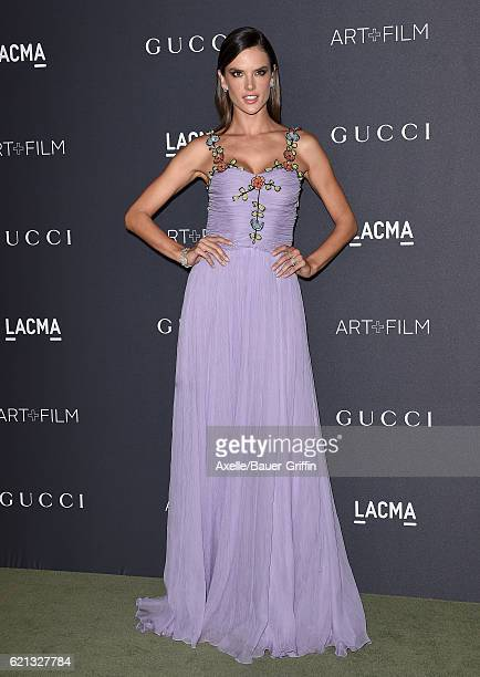 Model Alessandra Ambrosio attends the 2016 LACMA Art Film Gala honoring Robert Irwin and Kathryn Bigelow presented by Gucci at LACMA on October 29...