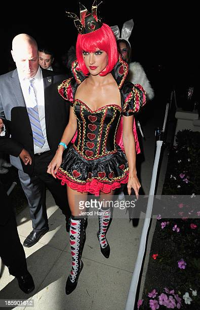 Model Alessandra Ambrosio attends the Casamigos Halloween Party at the home of Mike Meldman on October 25 2013 in Beverly Hills California