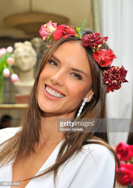 Model Alessandra Ambrosio attends the Christian Louboutin 'Passage' Handbag Luncheon on March 25 2014 in Los Angeles California