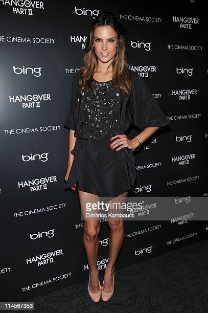 Model Alessandra Ambrosio attends the Cinema Society Bing screening of The Hangover Part II at Landmark Sunshine Cinema on May 23 2011 in New York...