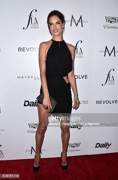 """Model Alessandra Ambrosio attends the Daily Front Row """"Fashion Los Angeles Awards"""" at Sunset Tower Hotel on March 20, 2016 in West Hollywood,..."""