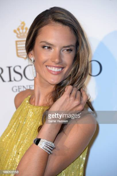 Model Alessandra Ambrosio attends the 'De Grisogono' Party during The 66th Annual Cannes Film Festival at Hotel Du Cap Eden Roc on May 21 2013 in...