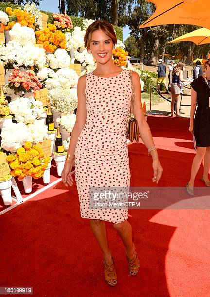 Model Alessandra Ambrosio attends The FourthAnnual Veuve Clicquot Polo Classic Los Angeles at Will Rogers State Historic Park on October 5 2013 in...