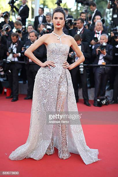 Model Alessandra Ambrosio attends 'The Last Face' Premiere during the 69th annual Cannes Film Festival at the Palais des Festivals on May 20 2016 in...