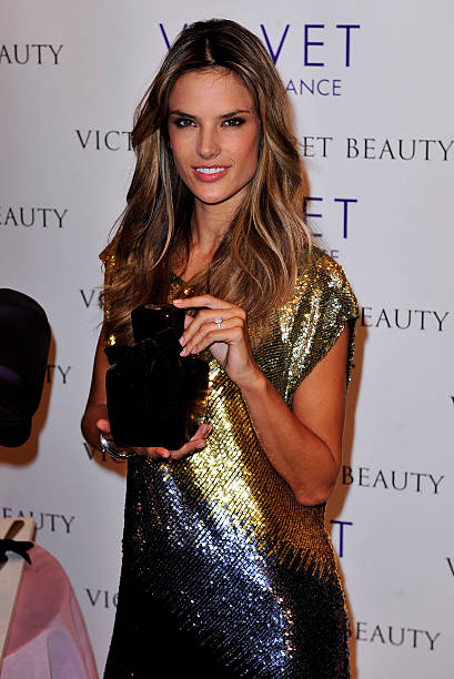 bad63dc4a487e Model Alessandra Ambrosio attends the launch of Velvet  The Fragrance by VS  Beauty at Victoria s