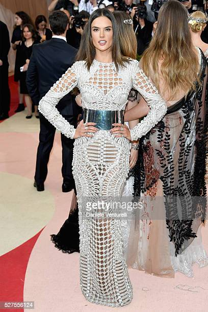 """Model Alessandra Ambrosio attends the """"Manus x Machina: Fashion In An Age Of Technology"""" Costume Institute Gala at Metropolitan Museum of Art on May..."""