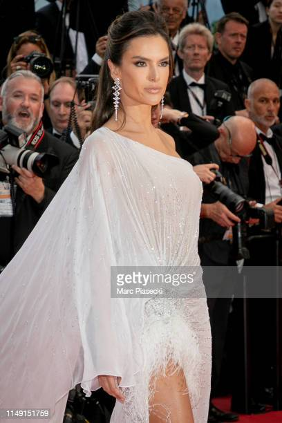 Model Alessandra Ambrosio attends the opening ceremony and screening of The Dead Don't Die during the 72nd annual Cannes Film Festival on May 14 2019...