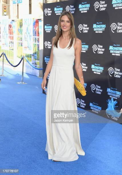 """Model Alessandra Ambrosio attends the premiere of Disney Pixar's """"Monsters University"""" at the El Capitan Theatre on June 17, 2013 in Hollywood,..."""