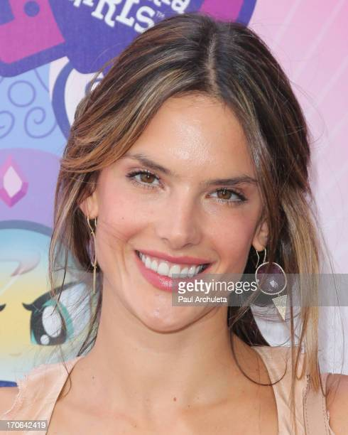 Model Alessandra Ambrosio attends the premiere of 'My Little Pony Equestria Girls' at the 2013 Los Angeles Film Festival at the Regal Cinemas LA Live...