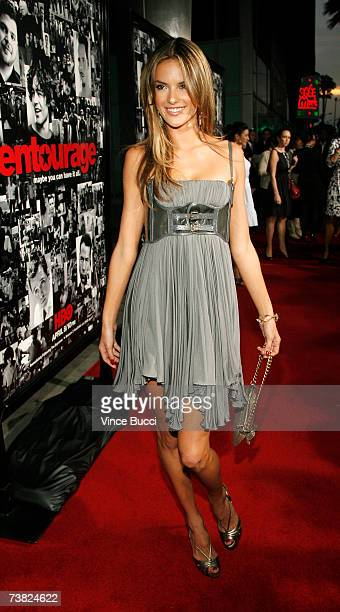 Model Alessandra Ambrosio attends the premiere of the HBO series Entourage Season 3 at The Cinerama Dome on April 5 2007 in Hollywood California