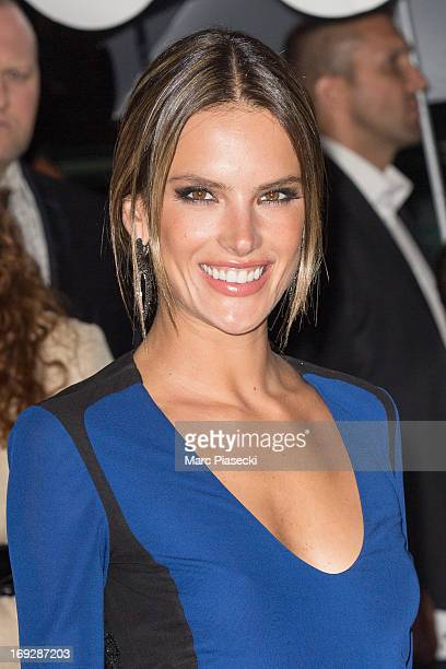 Model Alessandra Ambrosio attends the 'Roberto Cavalli Yacht Party' during the 66th Annual Cannes Film Festival on May 22 2013 in Cannes France