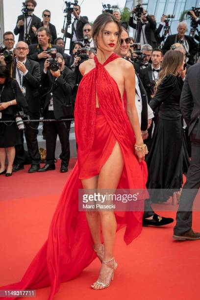 """Model Alessandra Ambrosio attends the screening of """"Les Miserables"""" during the 72nd annual Cannes Film Festival on May 15, 2019 in Cannes, France."""
