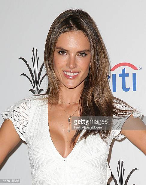 Model Alessandra Ambrosio attends the Simply Stylist Los Angeles Conference at The Grove on March 28 2015 in Los Angeles California