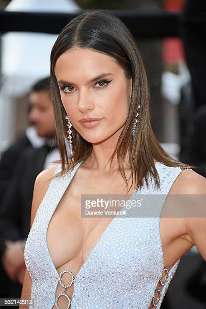 Model Alessandra Ambrosio attends 'The Unknown Girl ' Premiere during the 69th annual Cannes Film Festival at the Palais des Festivals on May 18 2016...
