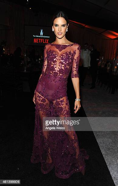 Model Alessandra Ambrosio attends The Weinstein Company Netflix's 2015 Golden Globes After Party presented by FIJI Water Lexus Laura Mercier and...