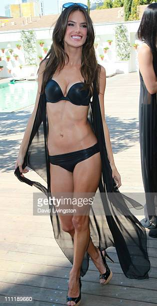 Model Alessandra Ambrosio attends Victoria's Secret 2011 SWIM collection launch at the Mondrian Hotel on March 30 2011 in West Hollywood California