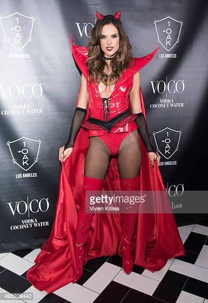 Model Alessandra Ambrosio attends VO|CO Presents Alessandra Ambrosio's Heaven And Hell Halloween Party At 1OAK Los Angeles at 1OAK on October 31,...